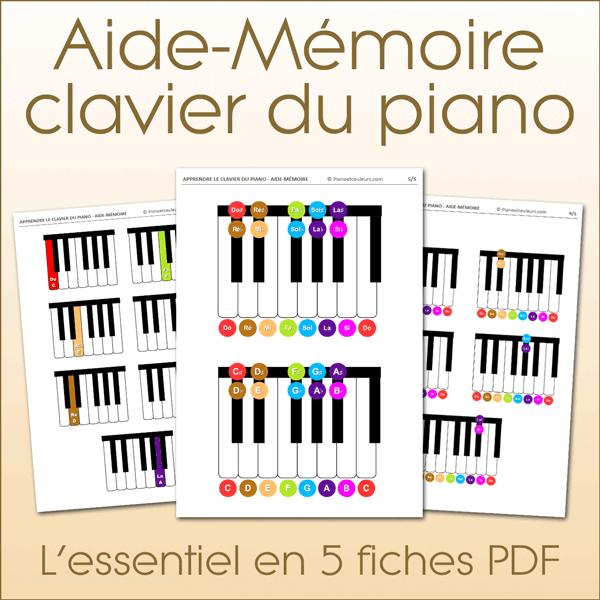 Aide-mémoire connaissance du clavier du piano