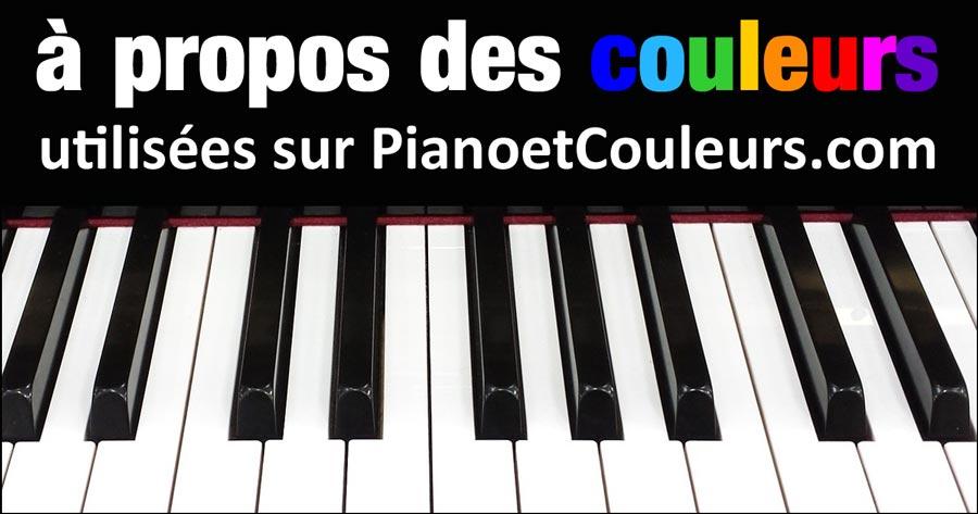 A propos des couleurs utilisées sur Piano et couleurs
