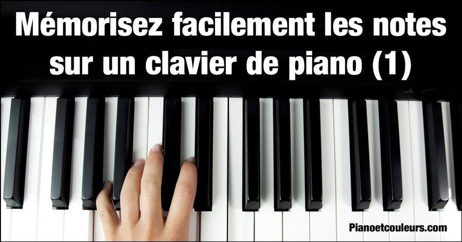 Mémorisez facilement les notes sur un clavier de piano (partie1)