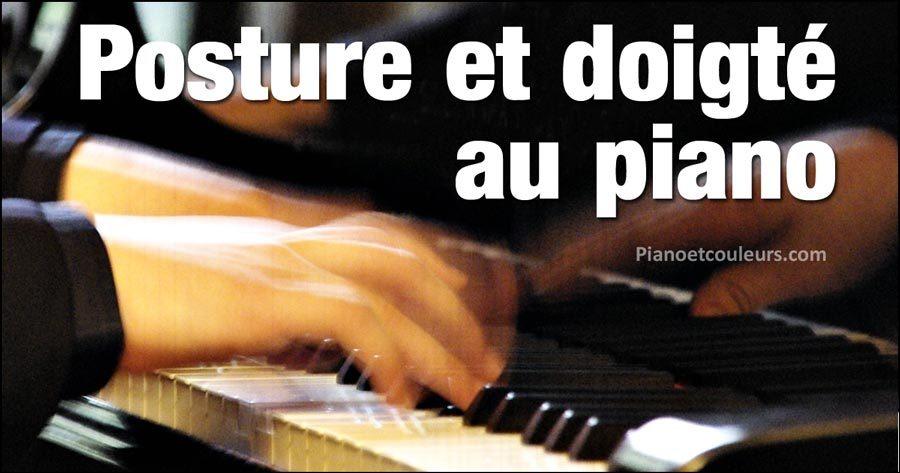 Posture et doigté au piano