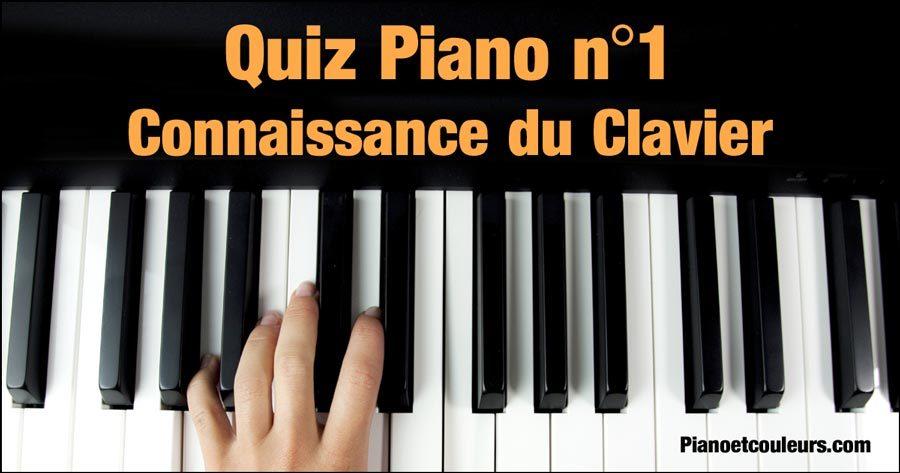 Quiz «Connaissance du clavier du piano»