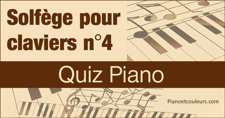 Quiz Piano - Testez votre connaissance du Solfège (4/5)